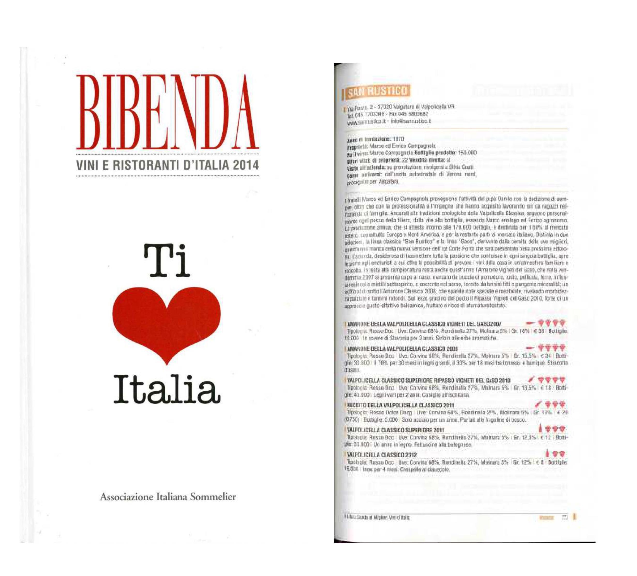 Bibenda 2014 - Associazione Italiana Sommelier