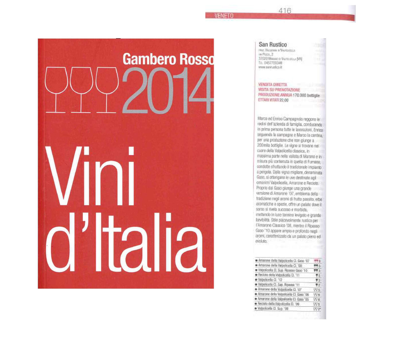 Gambero Rosso - Vini D'italia 2014