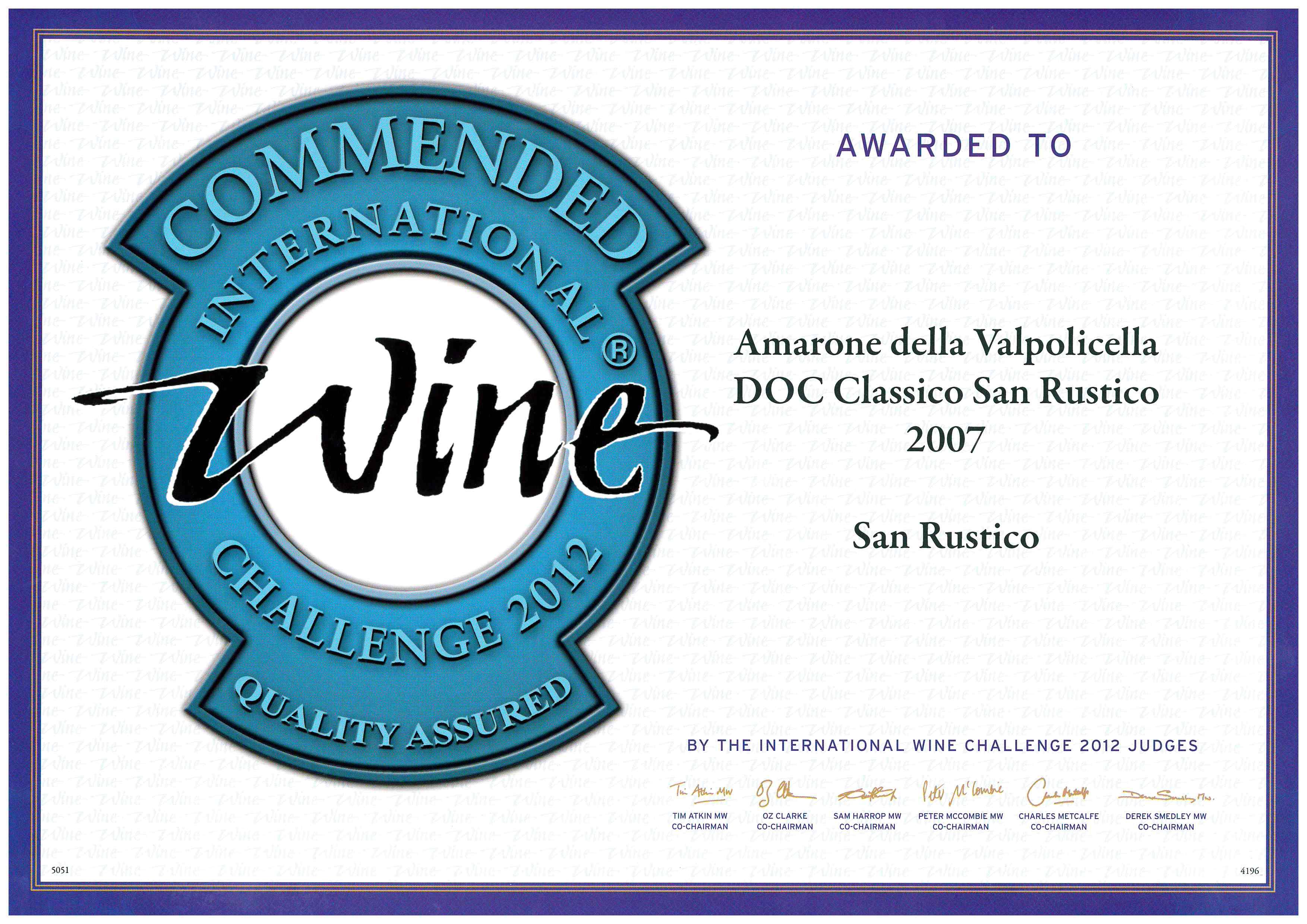 wine challenge 2012 amarone classico 2007