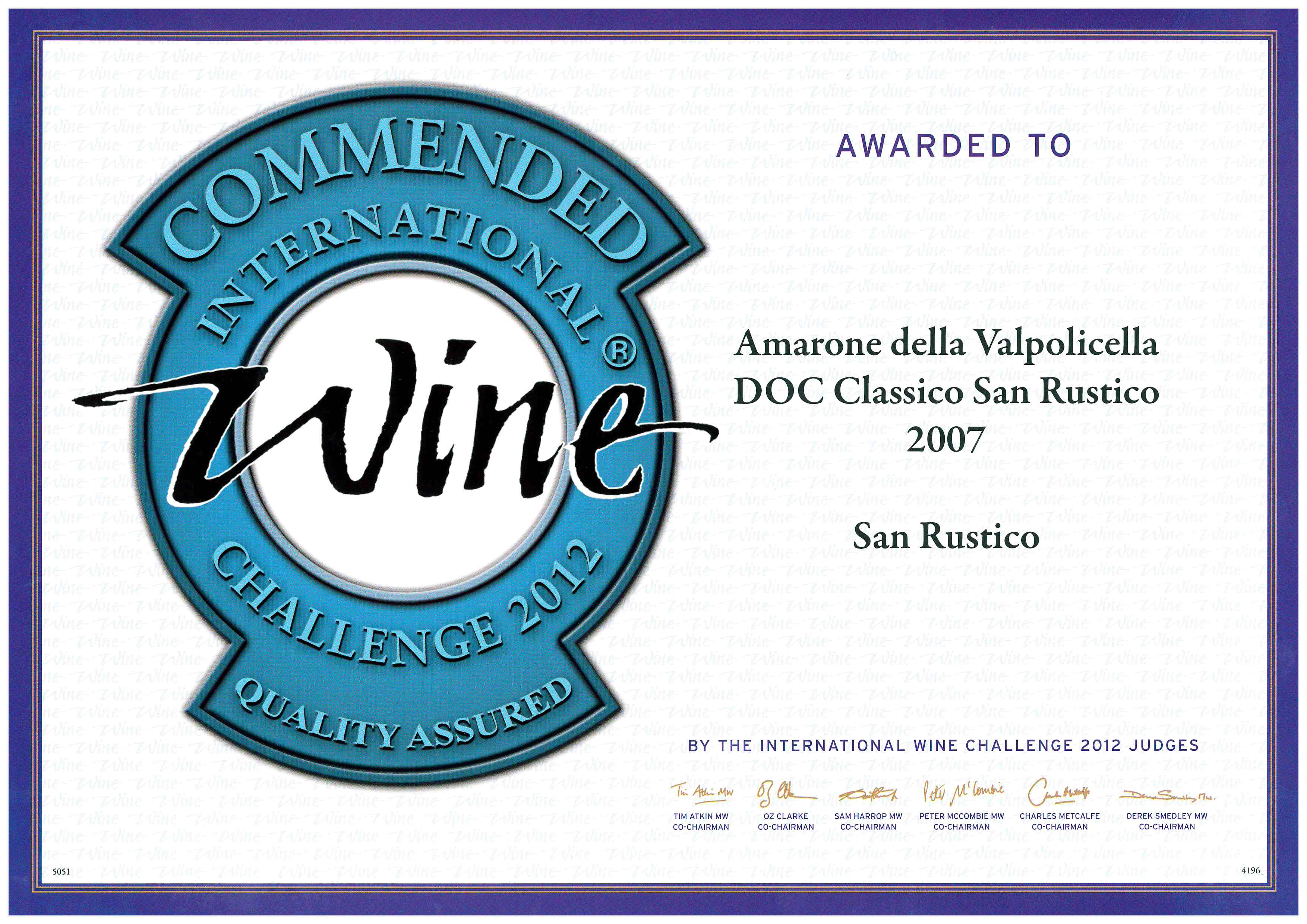 wine challenge 2012 ripasso 2008